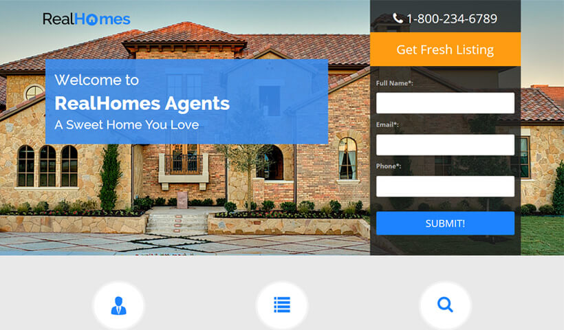 Dream Home Best Real Estate Landing Page Template By Olanding
