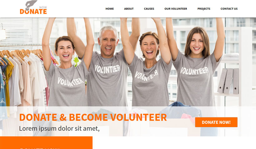 Collect Donation With Best And Responsive landing page template