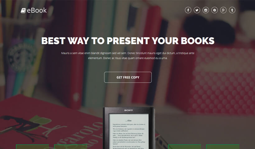 best ebook landing page template to sell your ebook online olanding