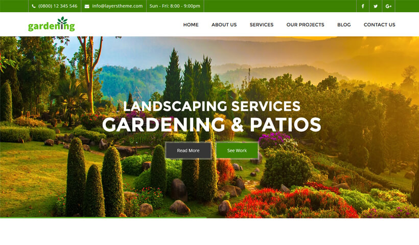 High Lead Generating WordPress Theme For Landscaping, Patio & Lawn Care