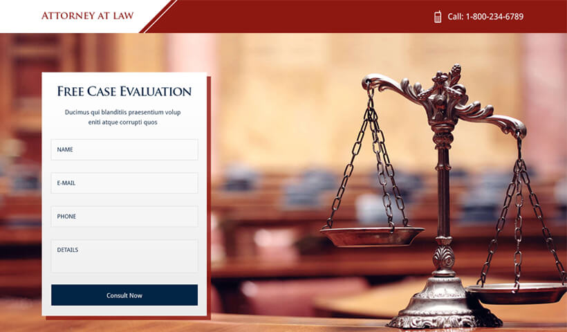 attorney at law landing page templates for law and legal firm