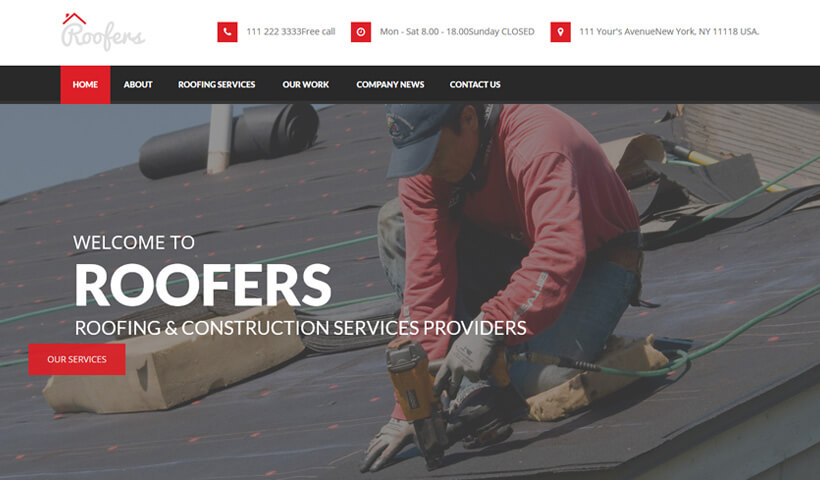 Lead Generating Roofing Companies & Contractors WordPress Theme