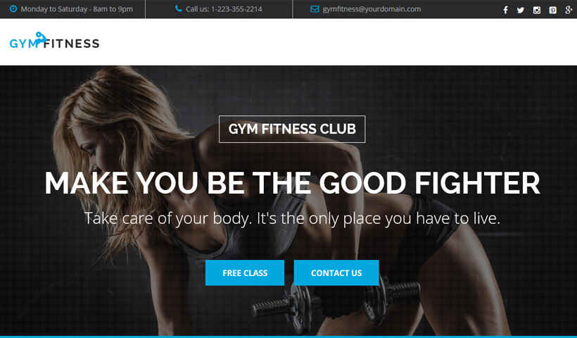 Grow Your Business With High Lead Generating best landing page template for sports and workout