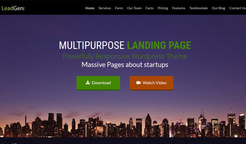 High Lead Generating WordPress Landing Page Theme With 6 Unique Templates