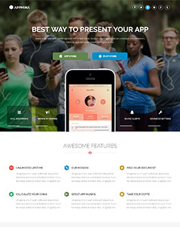 Capture High potential And Lead With Beautiful Mobile Apps Landing Page Template