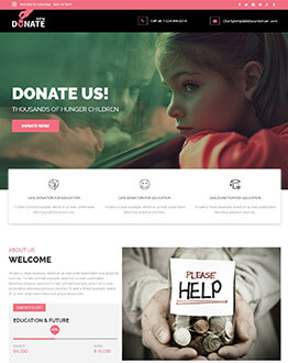 Best Charity Industry Landing page Template To Get More Charity Funds