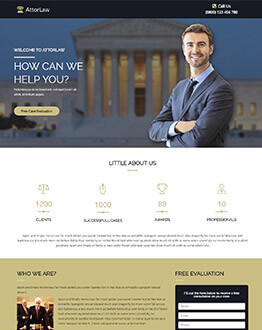 Capture High Leads And Traffic With Best Law & Justice Firm Landing Page Template