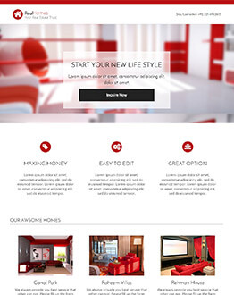 Best Real Estate Agency Landing page template To Boost Your Bussines