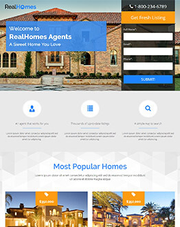 Capture High potential And Lead With Best Real Estate Landing Page Template