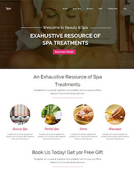 Best WordPress Responsive Theme For Spa saloon