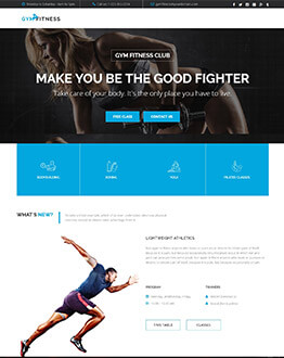 Best Sports Workout Landing Page Template