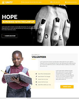 Best Charity, Trust, NGO Landing page Template
