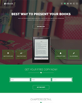 Sell Your eBook Online With eBook Landing Page Template And Get High Leads And Traffic