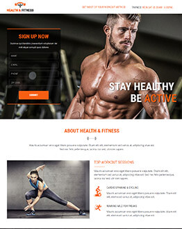 Best Landing Page Template for Gym, Sports, Health & Fitness To Capture High Leads