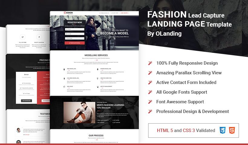 Capture High Traffic And Leads With Best Landing page Template for Fashion Industry