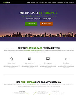 Highly Responsive WordPress Landing Page Theme With 6 Unique Templates