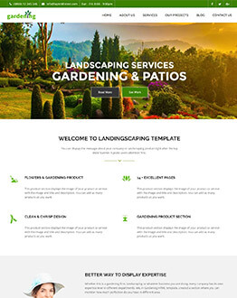 Landscaping, Patio & Lawn Care WordPress Theme Capturing High Leads