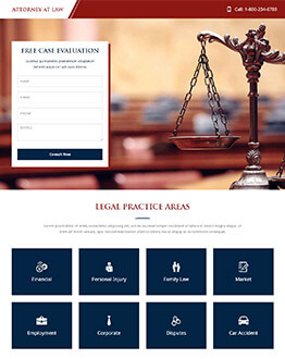 Law And Attorney Firms Best Landing Page Template