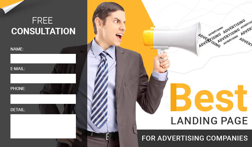 Lead Generating Advertising Companies Responsive html5 Landing Page Template