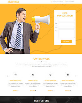 Lead Generating Advertising Companies Responsive HTML5 Landing Page Template To Capture High Traffic