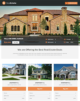 Capture High Lead With Responsive Real Estate Landing Page Template