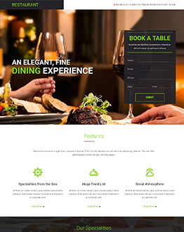 Capture High Lead With restaurants and cafe shops Landing page template