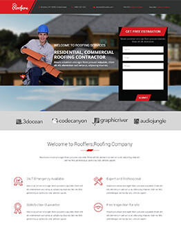 Boost Your Business With Roofing Landing Page Template