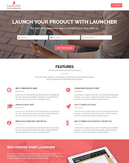 Capture High potential And Lead With Startup High lead Generating Landing page template