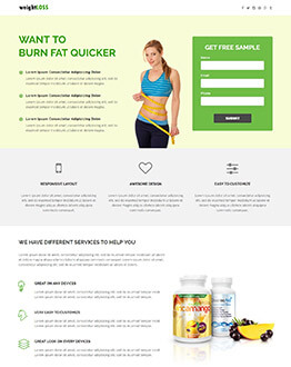 Capture High Traffic And Leads With WeightLoss, Fitness, Health and beauty Landing page Template