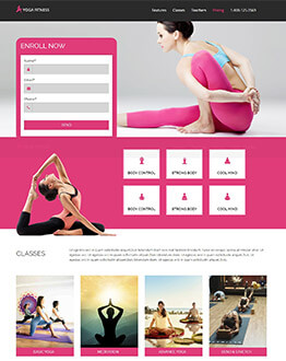 Yoga, Health and Fitness Gym Landing Page Template Design Helps You To Get High Leads