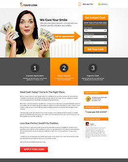 Boost Your Payday Loan Business Conversion HTML5 Responsive Cash Loan Squeeze Page Design Templates