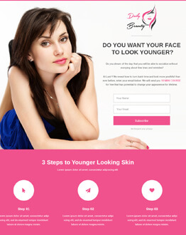 HTML5 Responsive Spa & Beauty Salon and Beauty Parlor Skin Care Squeeze Page Template To Get High Leads And Traffic