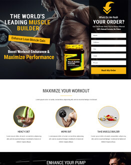 Capture High potential And Lead With HTML5 Supplements Landing Page Design Templates To Boost Sale Of Your Supplements Product