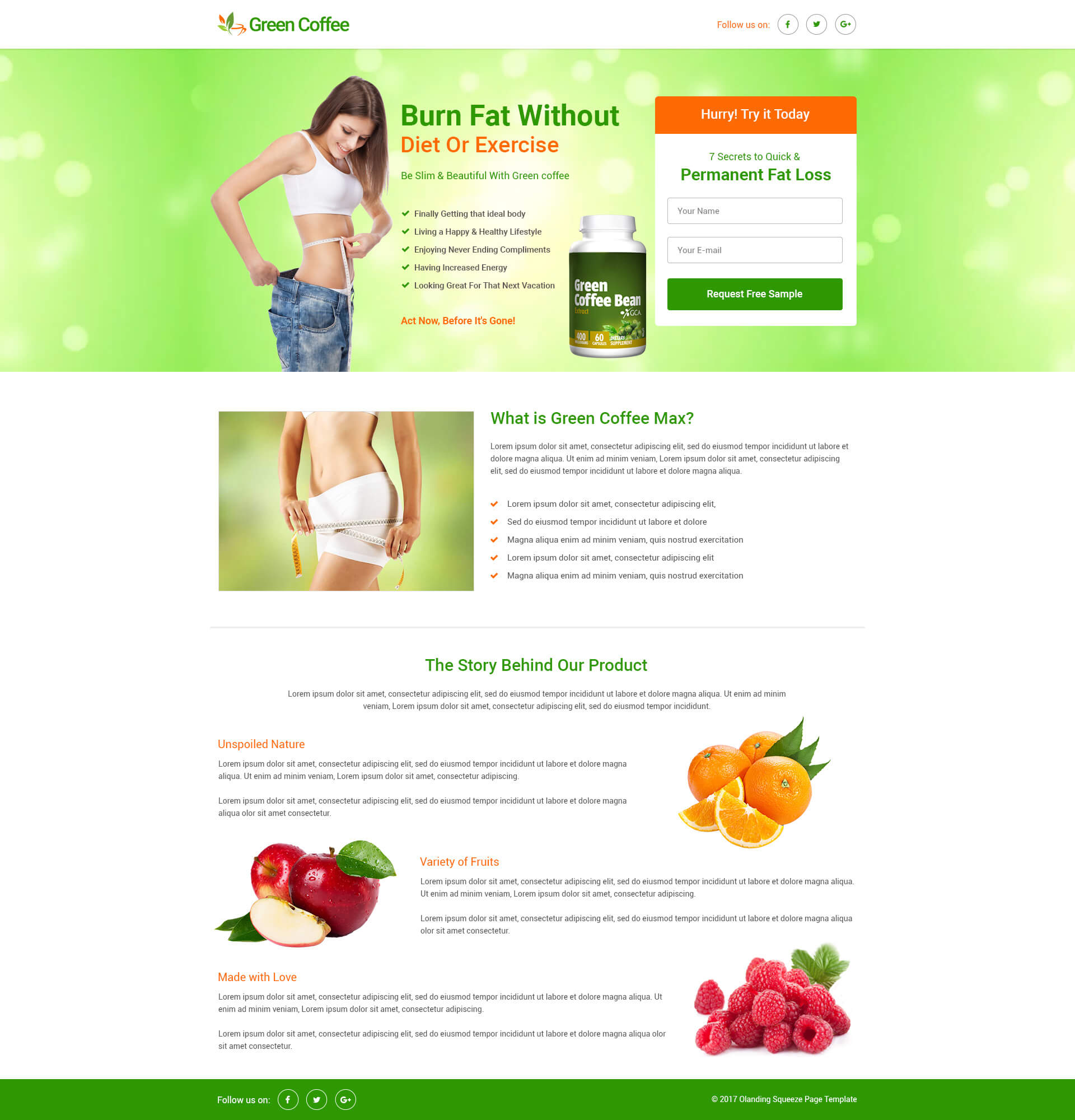 Lead Gen Weight Loss Squeeze Page Template With Free Landing Page - Squeeze page templates wordpress