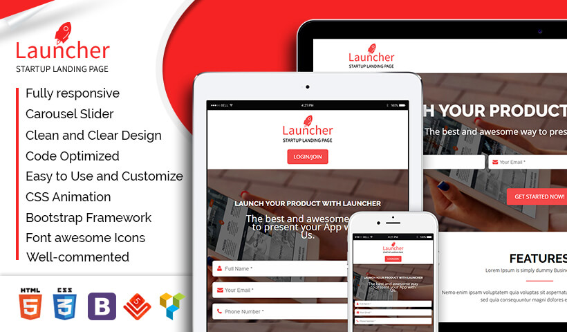 Boost Your Bussines With Startup High lead Generating Landing page template To Capture High Leads And Traffic