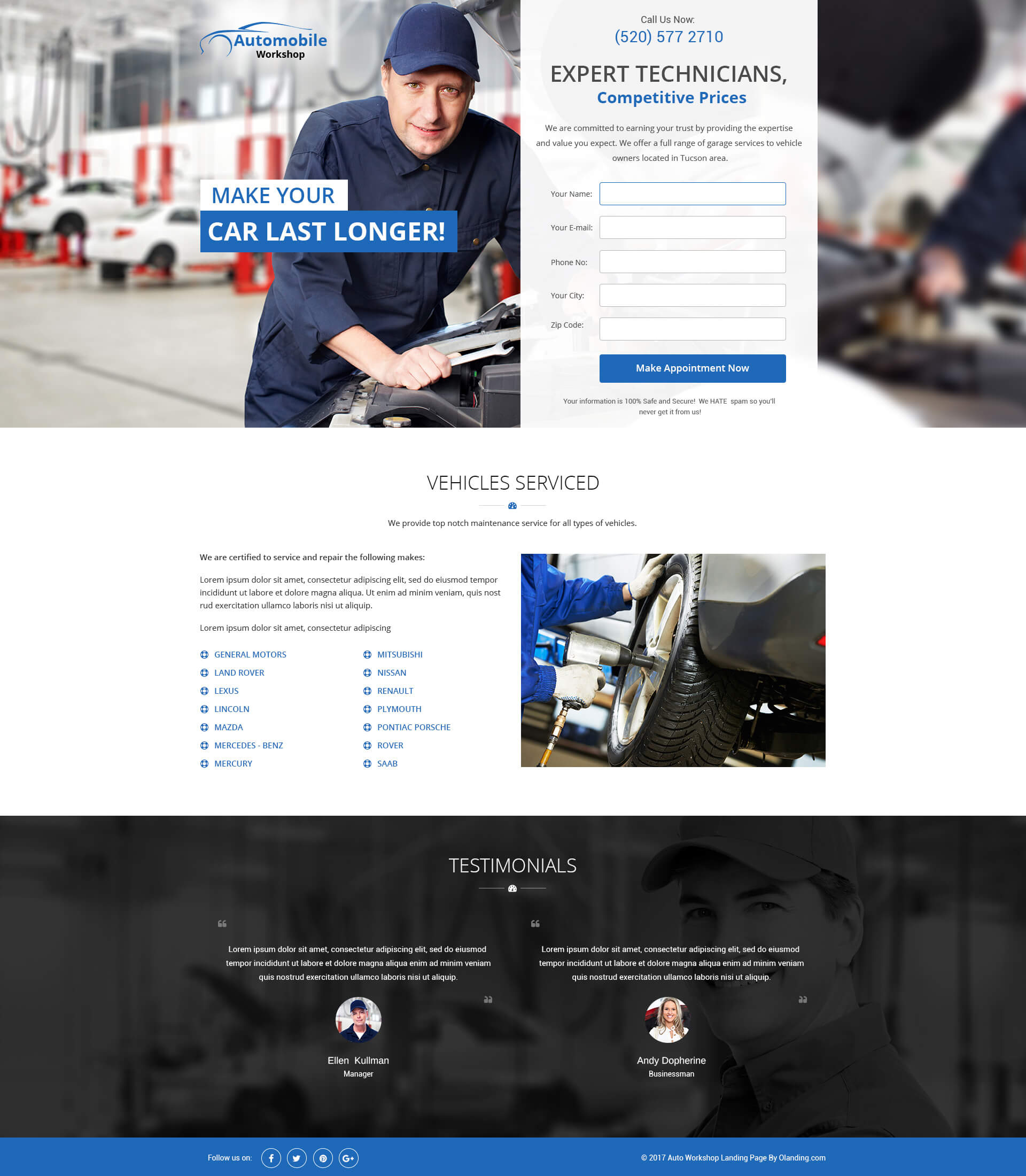 Design car repair workshop - Car Repair Business Landing Page Design To Boost Your Car Repair Business By Capturing Positive And Returning Leads Convert Your Visitor Into A Customer