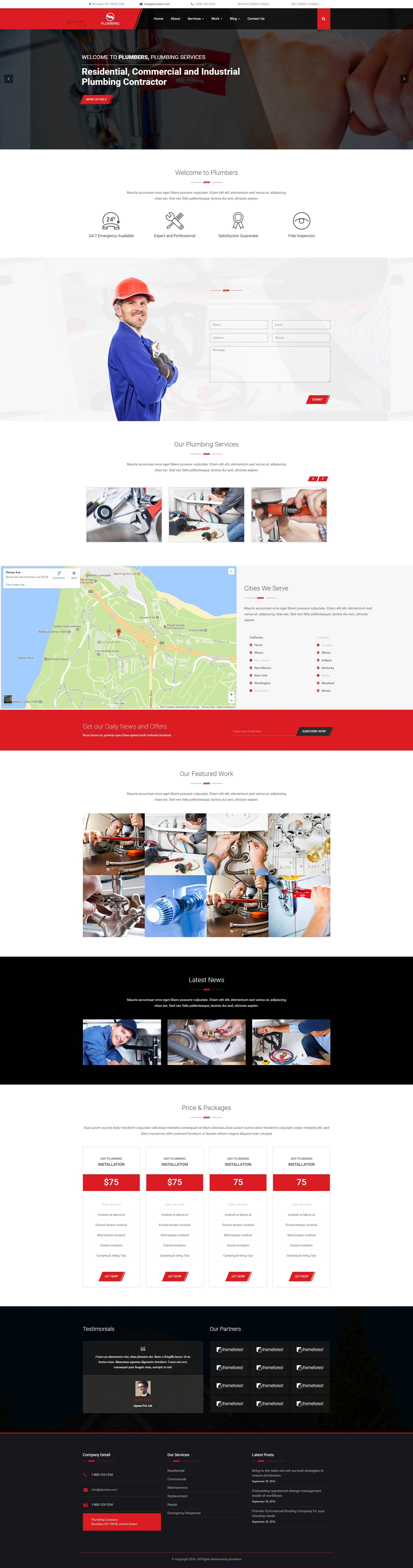 Plumbing WordPress Theme
