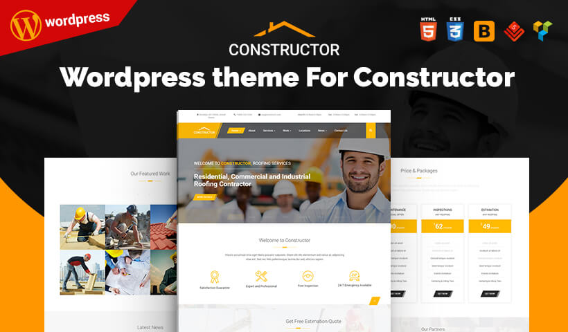 Best Constructor WordPress Theme For Residential, Commercial and Industrial Construction, Contractor Companies