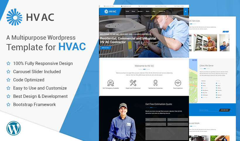 Best Heating and Cooling Companies HVAC WordPress Theme