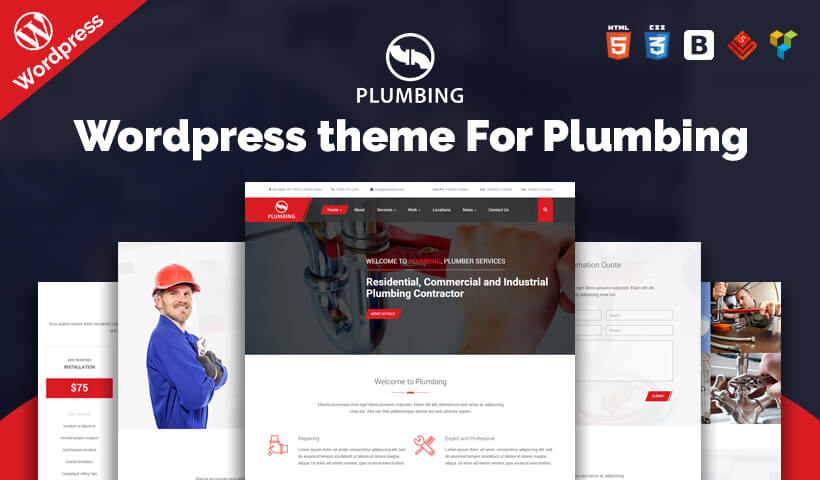 Best Plumbing WordPress Theme For Plumbing – Repair, Building & Construction Companies