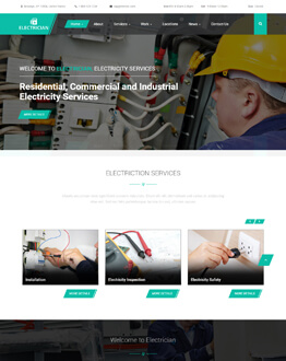 Electrician WP – Electrical Contractor Responsive WordPress Theme