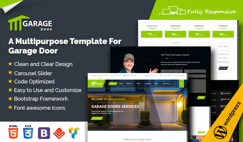 Best Garage WordPress Theme For Garage Door Installation and Repair Service Companies