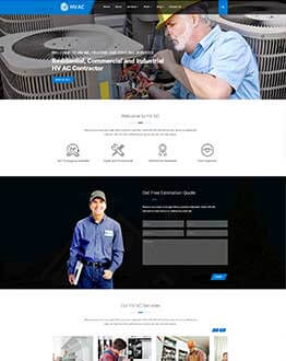 Best Responsive HVAC WordPress Theme for Heating and Cooling Companies