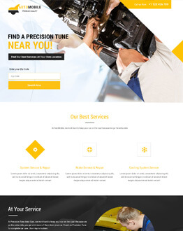 Lead Generating Responsive Auto Mobile Landing Page Design Template To Boost Your Car Repair Business