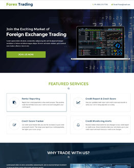 Boost Your Trading Business Conversion with Lead Generating Responsive Forex Trading Landing Page Design Templates