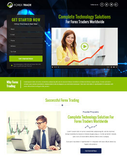 Best HTML5 Responsive Forex Strategy Video Lead Capturing Converting And Professional Landing Page Design Template