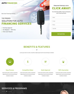 Boost Your Business Conversion Rate With Responsive Lead Generating Auto Financing Landing Page Design Templates