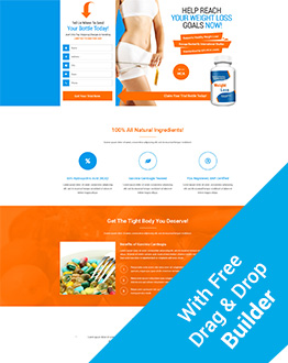 High Lead Generating Responsive Weight Loss Squeeze Page Template With Free Squeeze Landing Page Builder
