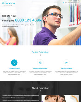 Get The Best Conversion Rate With This Education HTML5 Responsive PPC Landing Page Design Template