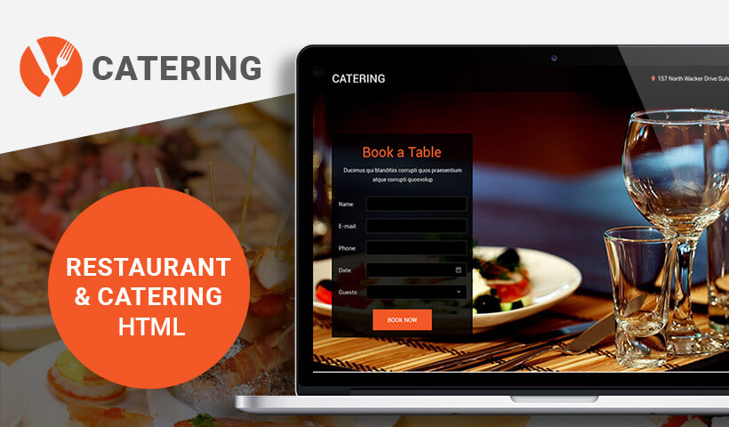 Responsive Lead Generating Catering HTML5 Landing Page Template